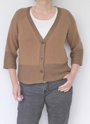 Olsen Smanicato lavorato a maglia marrone chiaro-sabbia Acrilico