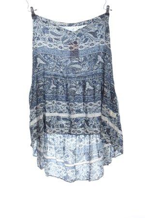 Odd Molly Falda asimétrica azul-blanco look casual