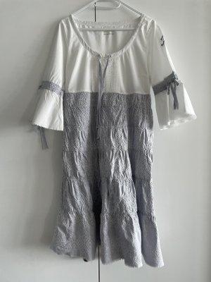 Odd Molly Abito a balze bianco-grigio chiaro Cotone