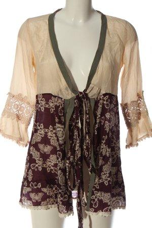 Odd Molly Giacca a blusa crema-marrone stampa integrale stile casual