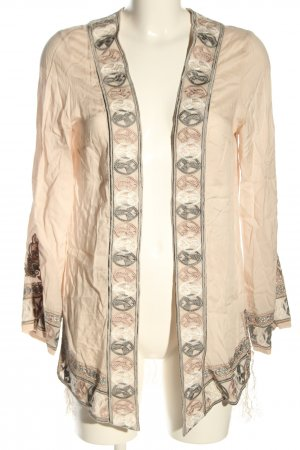 Odd Molly Giacca a blusa crema caratteri ricamati stile casual