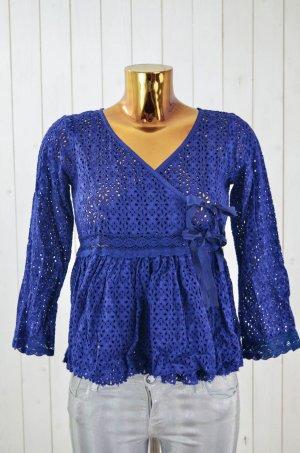 Odd Molly Blusa cruzada azul Algodón