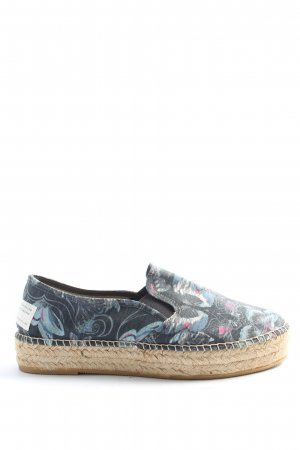 Odd Molly Espadrille Sandals blue-natural white flower pattern casual look