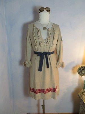 Odd Molly Frill Dress Beige Rot Blau Strickkleid Gr. 3/40 ein Traumkleid