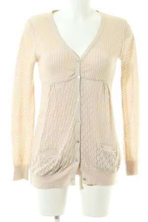 Odd Molly Cardigan all'uncinetto crema stile casual
