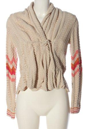Odd Molly Crochet Sweater nude-pink striped pattern casual look