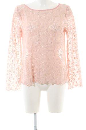 Odd Molly Gehaakt shirt roze bloemenprint casual uitstraling