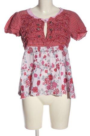 Odd Molly Camicetta a maniche corte bianco-rosso motivo floreale stile casual
