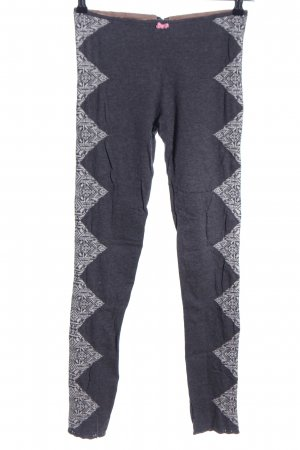Odd Molly Leggings hellgrau grafisches Muster Casual-Look