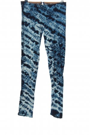 Odd Molly Leggings blau-weiß grafisches Muster Casual-Look