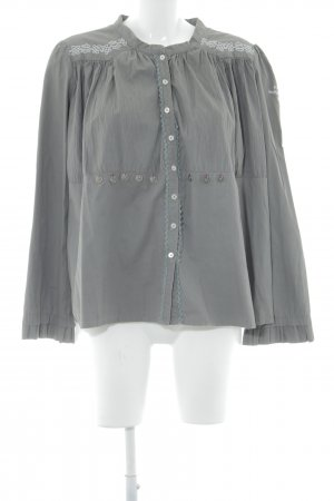 Odd Molly Long-Bluse graubraun-hellgrau 90ies-Stil