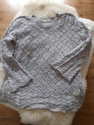 Odd Molly Pullover all'uncinetto grigio chiaro Cotone