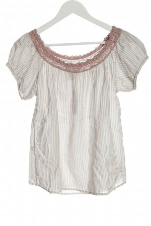 Odd Molly Slip-over Blouse natural white-brown striped pattern casual look