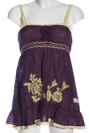 Odd Molly Schlupf-Bluse lila-goldfarben Blumenmuster Casual-Look
