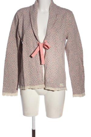 Odd Molly Cardigan in maglia rosa-blu stampa integrale stile casual