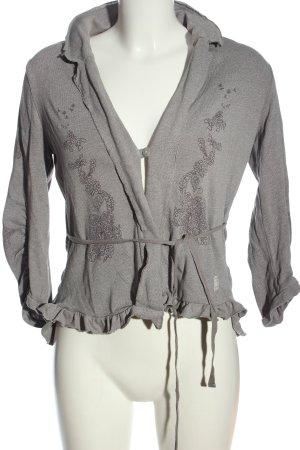 Odd Molly Cardigan in maglia grigio chiaro motivo floreale stile casual
