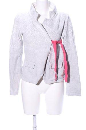 Odd Molly Strick Cardigan hellgrau-pink Allover-Druck Casual-Look
