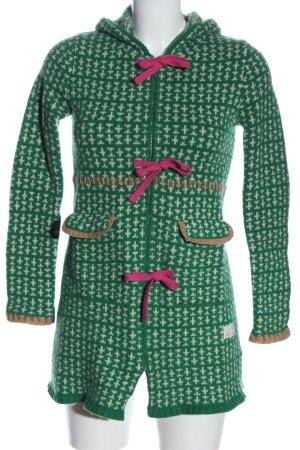 Odd Molly Giacca in maglia verde-bianco motivo grafico stile casual