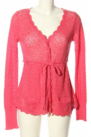 Odd Molly Strickjacke pink Blumenmuster Casual-Look