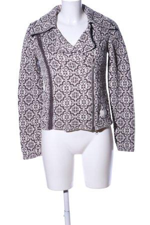 Odd Molly Giacca in maglia bianco sporco-marrone stampa integrale stile casual