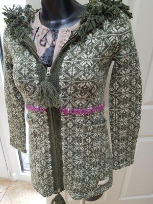 Odd Molly Giacca di lana bianco-verde