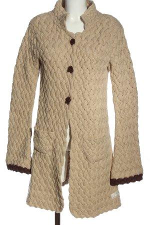 Odd Molly Cappotto a maglia bianco sporco-marrone stile casual
