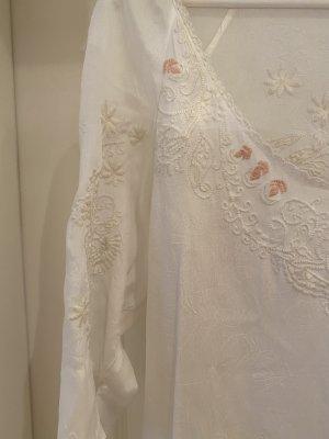 ODD MOLLY Tunika Minikleid NEU S 36 weiss Stickerei Mini Kleid Boho Ibiza