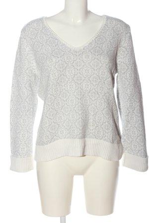 Odd Molly V-Ausschnitt-Pullover weiß Motivdruck Casual-Look