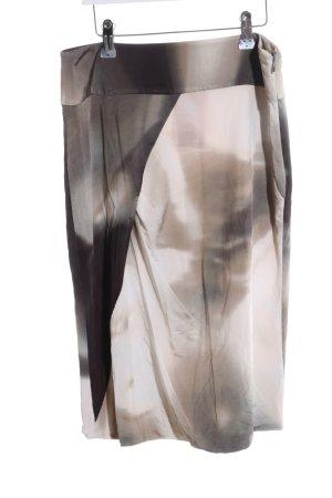 Odeeh Bleistiftrock wollweiß-bronzefarben abstraktes Muster Business-Look