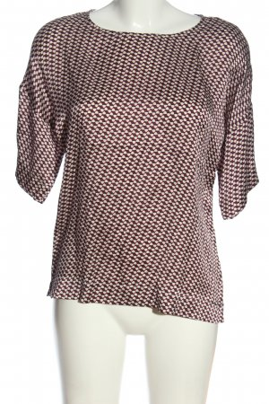 Odeeh Kurzarm-Bluse Allover-Druck Casual-Look