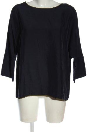 Odeeh Langarm-Bluse schwarz-bronzefarben Casual-Look