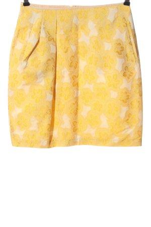 Odeeh Miniskirt light orange graphic pattern casual look