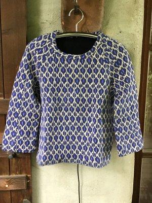 Odeeh Pullover Shirt Blau gemustert Gr 38/40
