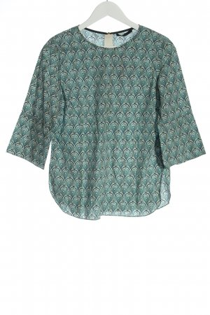 Odeeh Slip-over Blouse turquoise allover print casual look