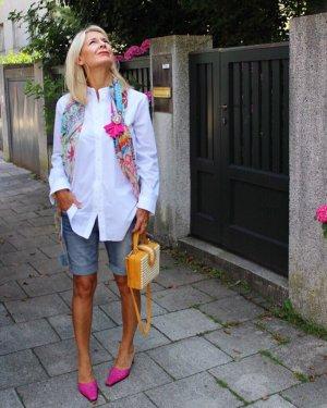 Odeeh Blouse à col montant blanc style d'affaires