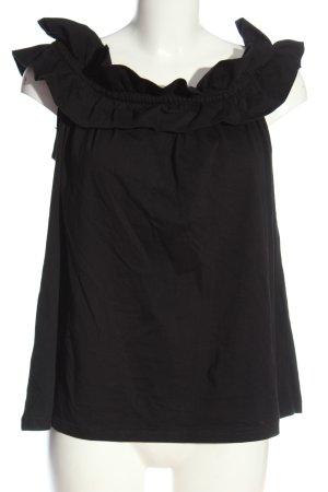 ODEON Blouse Carmen noir élégant
