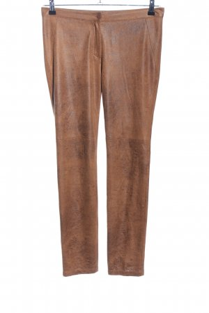 ODEON Pantalon cigarette brun style décontracté