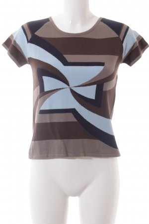ODEON Strickshirt abstraktes Muster Elegant