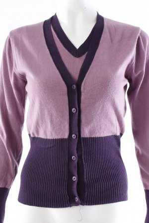 Odeon Twinset Strickjacke -Top flieder lila