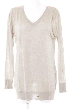 ODEON V-Ausschnitt-Pullover creme-beige meliert Casual-Look