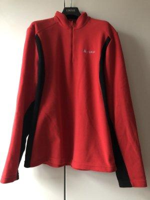 Odlo Polarowy sweter ciemnoczerwony-czarny