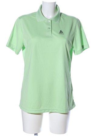 Odlo Camiseta tipo polo verde look casual