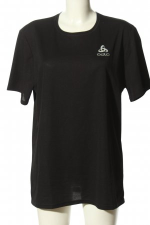 Odlo T-shirt nero caratteri stampati stile casual