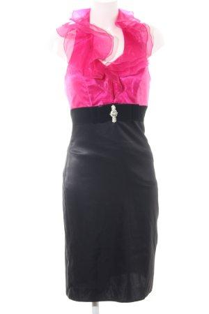 Odrella Neckholderkleid pink-schwarz Elegant