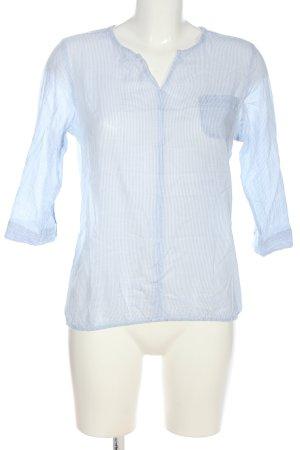 Odyssee Langarm-Bluse weiß-blau Streifenmuster Casual-Look
