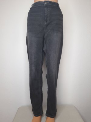 Öko Jeans Hose schmales Bein Bengalin Gr 50 52 54 grau Baumwolle