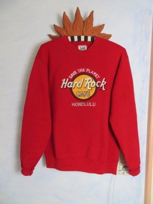 Öko Statement Sweatshirt Safe The Planet Lee Heavy Weight Hard Rock Cafe Honolulu Crewneck Pullover S M L Vintage