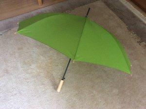 Paraguas bastón verde hierba Poliéster