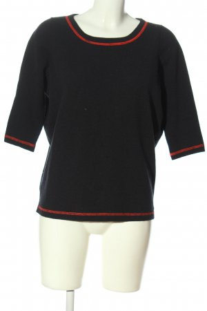 OFF & CO Wollpullover schwarz Casual-Look
