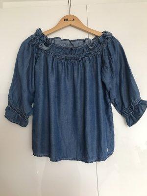 Fracomina Blouse en jean bleu